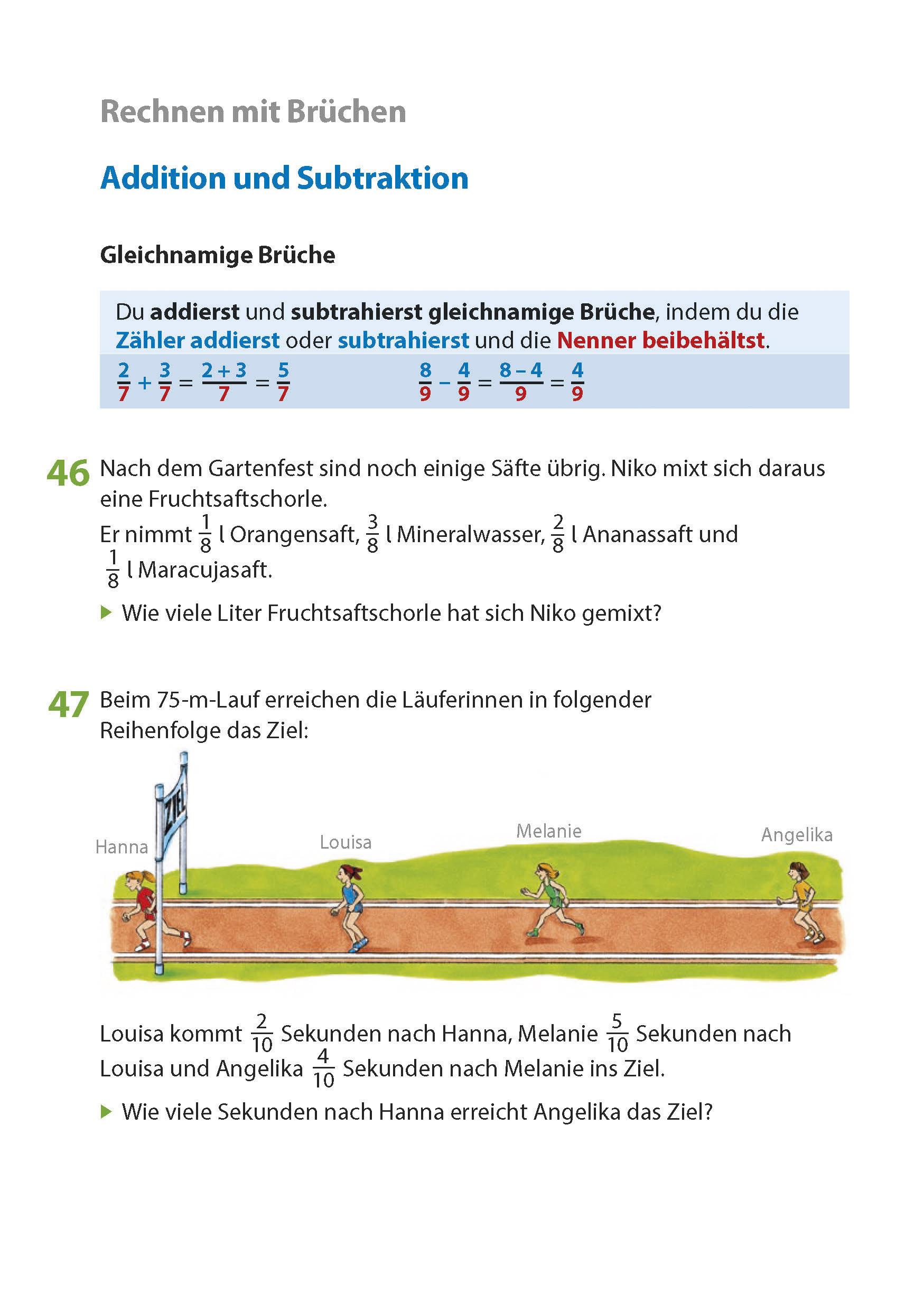 الحدود من المفترض تحسين addition und subtraktion von brüchen ...